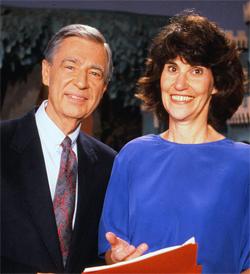 Fred Rogers and Hedda Sharapan