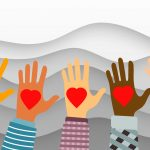 community foundation - Multi cultural hands reach out with hearts
