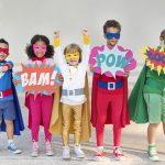 Team of superhero kids